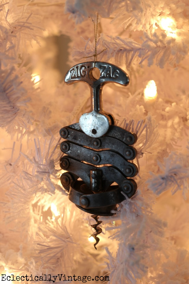 Vintage corkscrew ornament tree! kellyelko.com