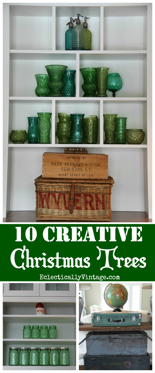 10 Creative Christmas Trees - such fun ideas for a one of a kind look kellyelko.com