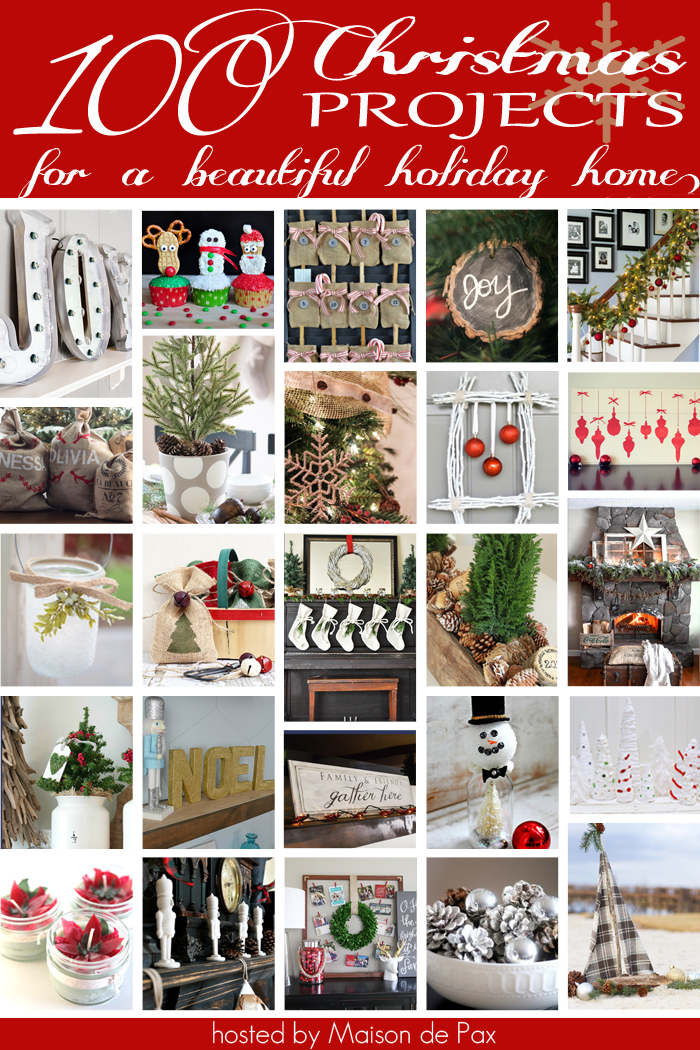 100 Creative Christmas Projects kellyelko.com #christmas #christmasdecor #christmasdecorating #christmascrafts #diychristmas