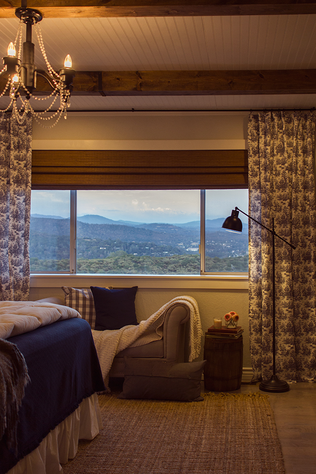 Not sure what is better - this stunning DIY bedroom reno or the view kellyelko.com
