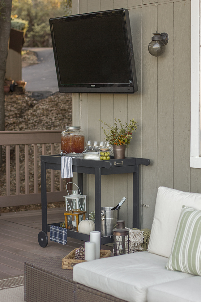 Put a television outside - what a fun idea! kellyelko.com