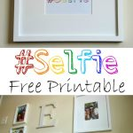 Tips on creating a Selfie Family Gallery Wall plus free #Selfie printable kellyelko.com