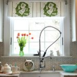 Make a DIY Dish Towel Window Treatment kellyelko.com