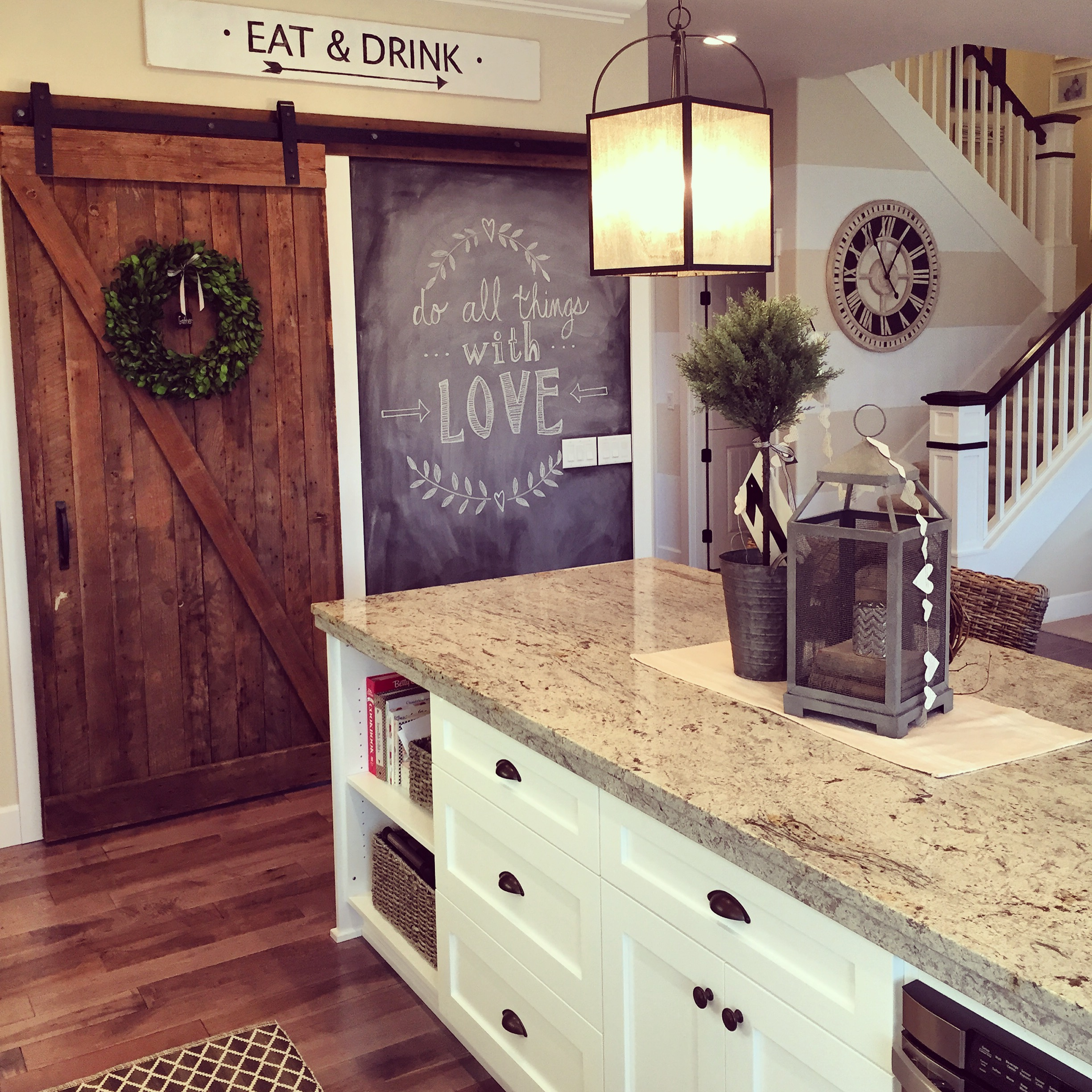 2448 #8B6F40 Eclectic Home Tour Yellow Prairie Interiors pic Rolling Barn Doors Interior 11112448