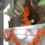 Rustic Spring Mantel and DIY Carrot Garland kellyelko.com