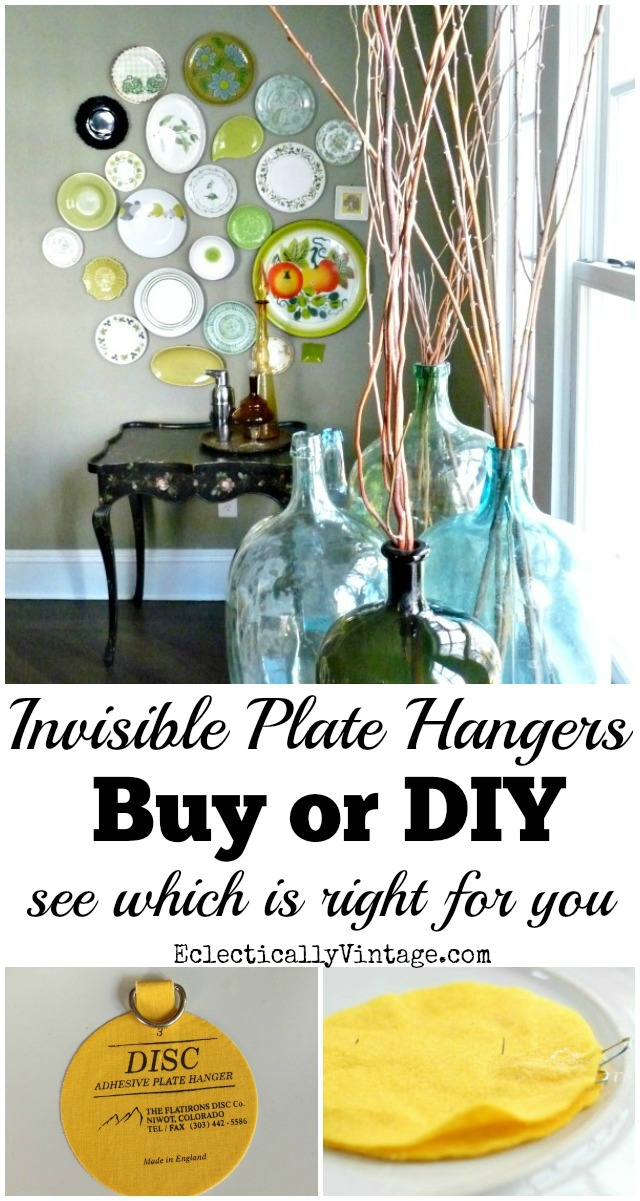 Invisible Plate Hangers for Walls - see what to buy or how to DIY your own  sc 1 st  Kelly Elko & Best Plate Hangers for Walls - Buy u0026 DIY
