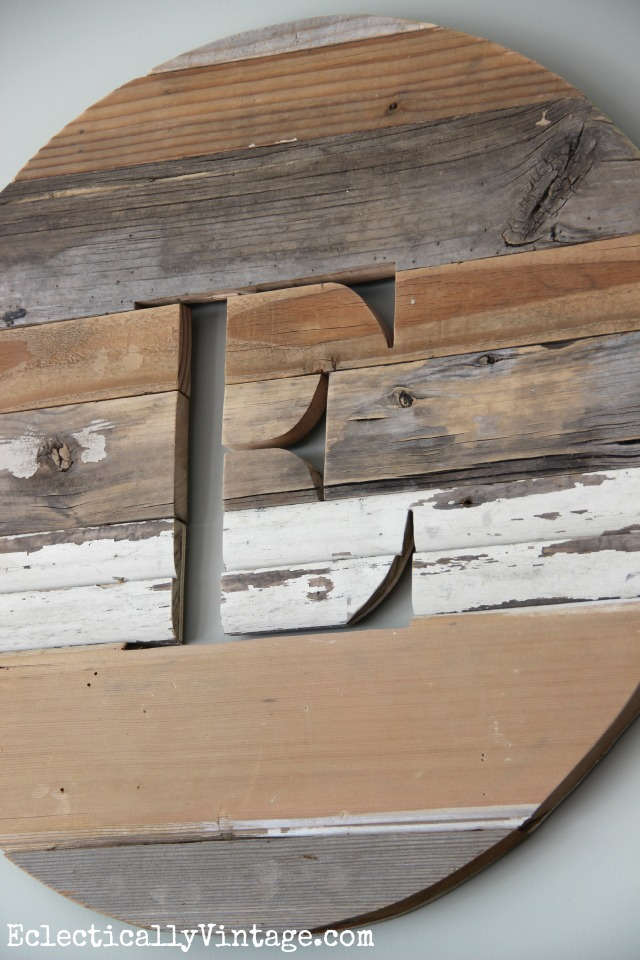 Rustic wood monograms from ava berry lane Where can i buy reclaimed wood near me