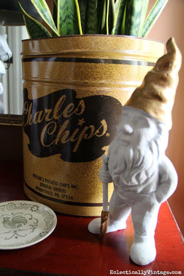 Vintage Charles Chips planter kellyelko.com