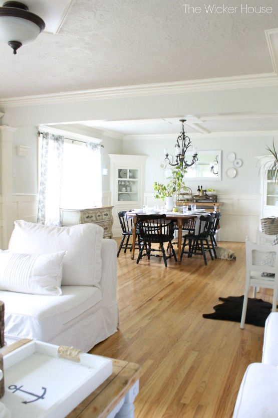 Love the open floor plan of this cozy cottage