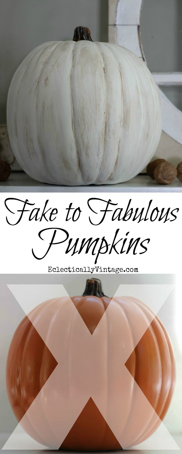 How to Make Plastic Pumpkins Look Realistic - in minutes! kellyelko.com