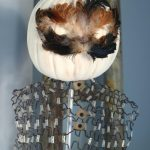 Feather Mask Pumpkin Vintage Dress Form
