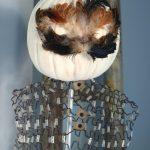 Feather Mask Pumpkin Vintage Dress Form