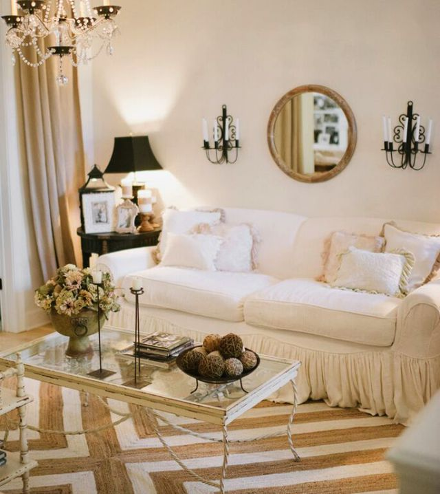 Love the textures in this neutral living room kellyelko.com