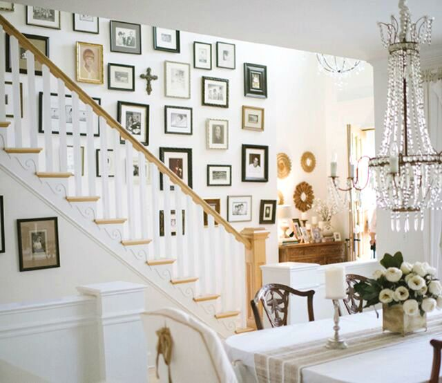 Love this staircase gallery wall kellyelko.com