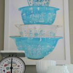 Free Vintage Pyrex Watercolor Printable (and more)!