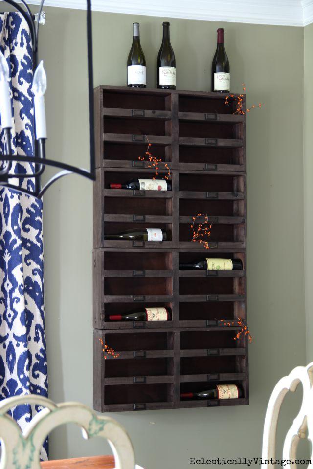Love the wood wine cubbies kellyelko.com