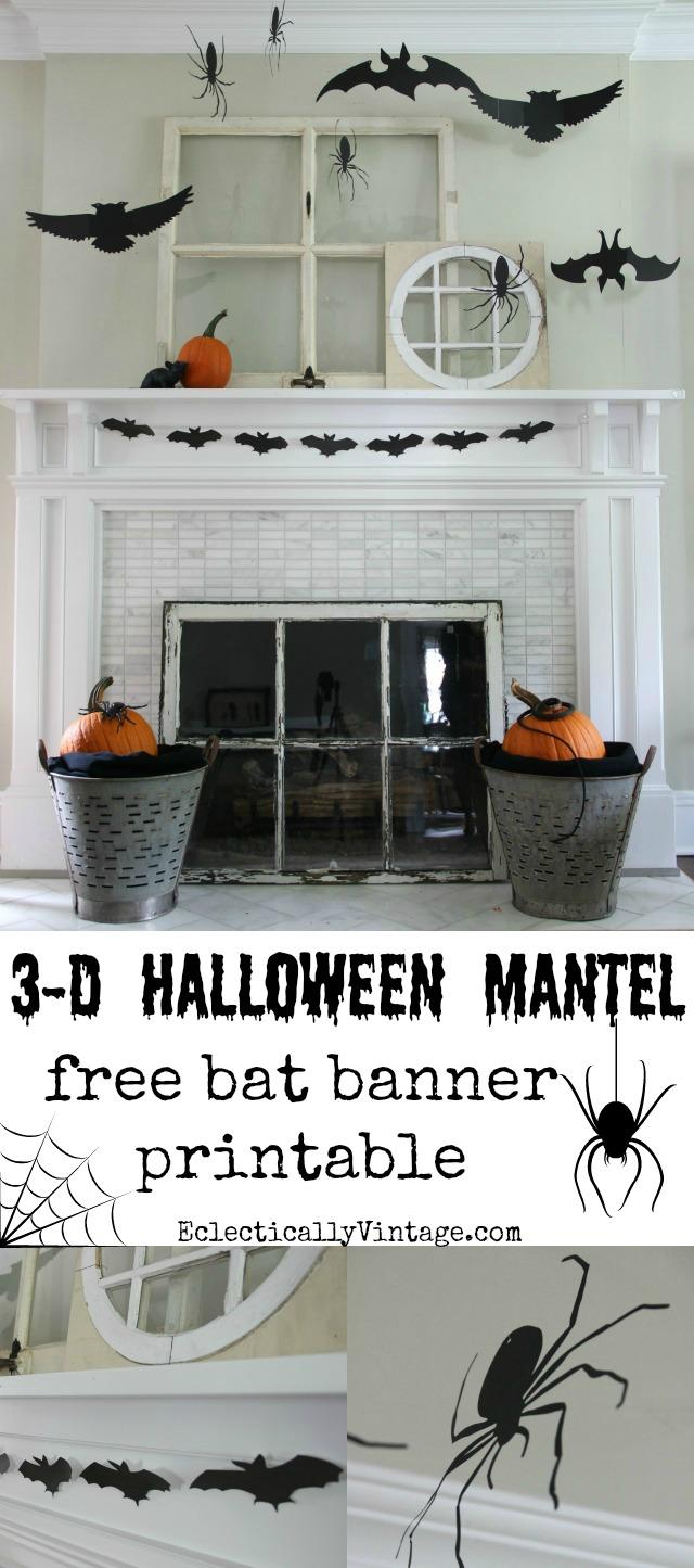 photo about Free Printable Halloween Silhouettes known as Silhouette Halloween Mantel
