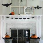 3-D Silhouette Halloween Mantel
