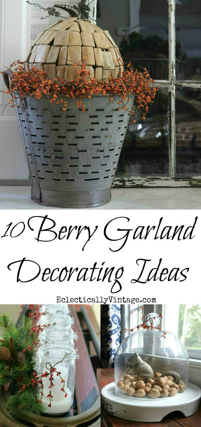 Creative Berry Garland Decorating Ideas kellyelko.com