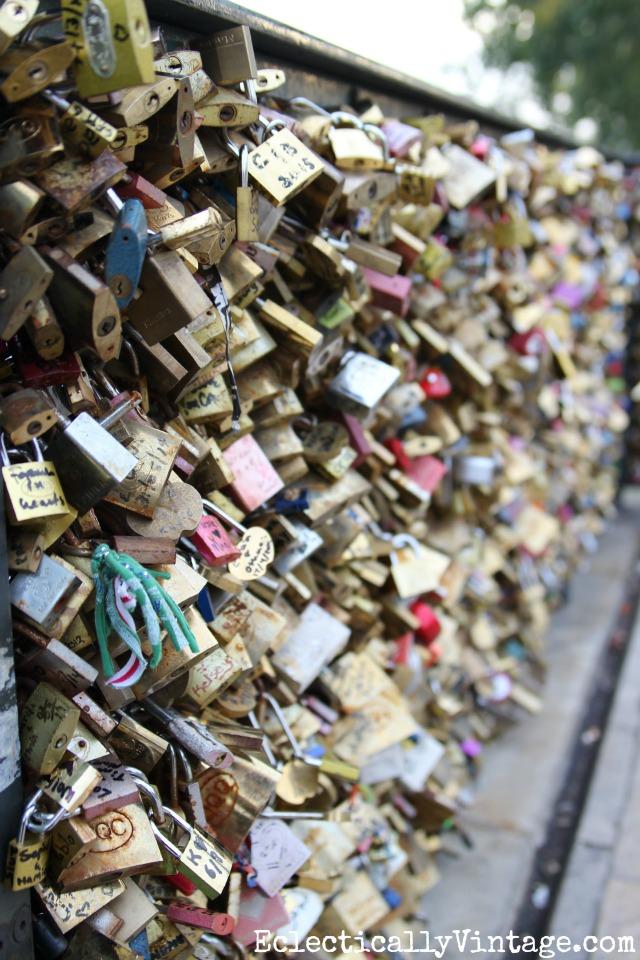 Love Lock Bridge Paris kellyelko.com