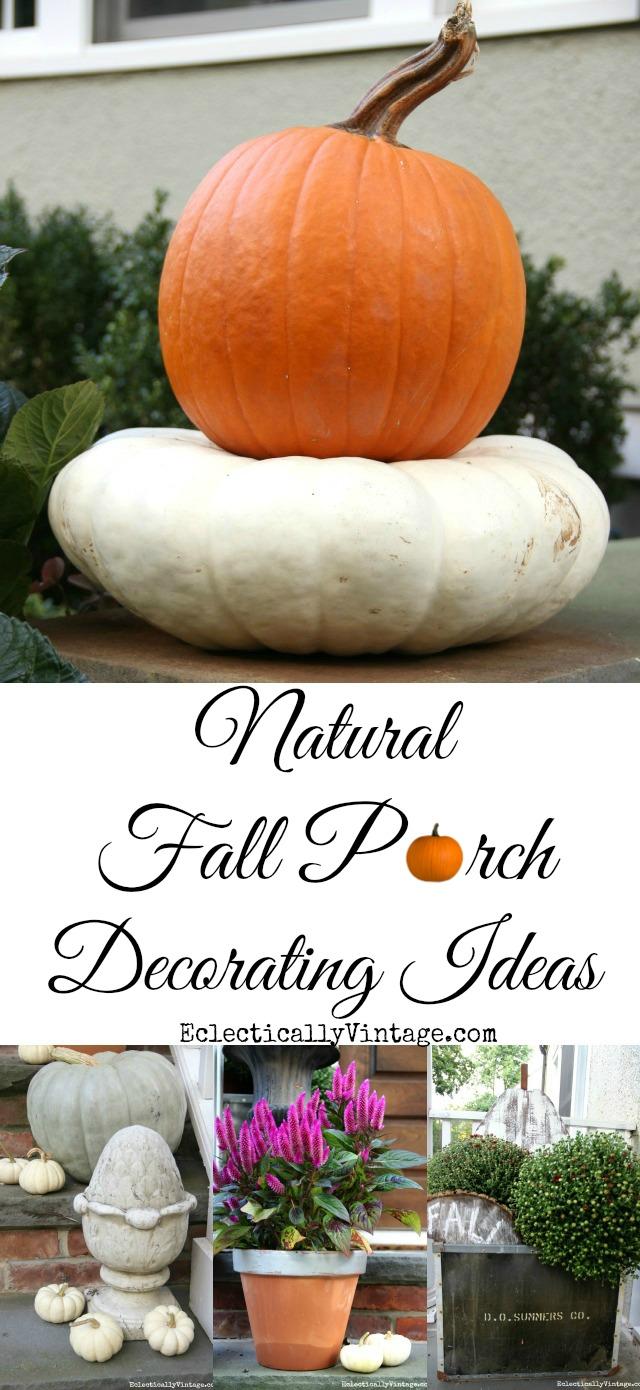 Natural Fall Porch Decorating Ideas