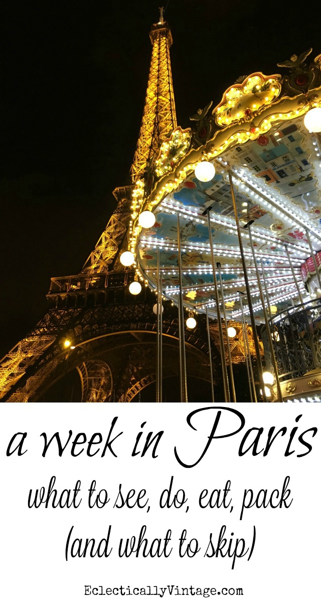 A week in Paris itinerary kellyelko.com #paris #france #parisfrance #travel #luxurytravel #travelblog #travelblogger #cityoflights #europeanvacation