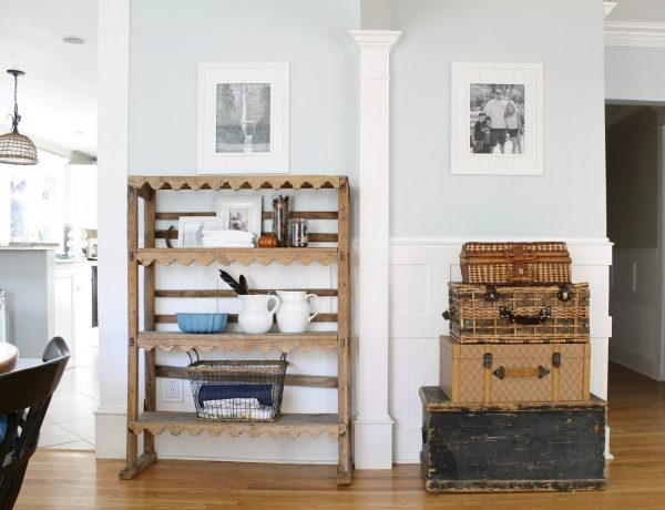 Vintage goodness - love the stacked baskets and fun collections