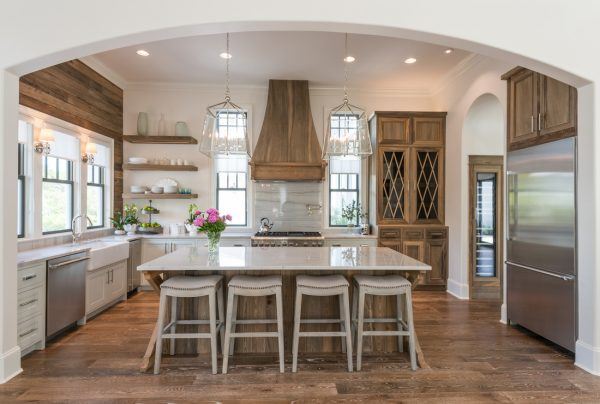 What a house tour! Love this kitchen with the perfect mix of white, rustic wood Old Seagrove Home kellyelko.com