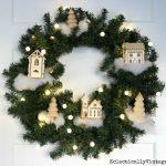 DIY Winter Village Wreath
