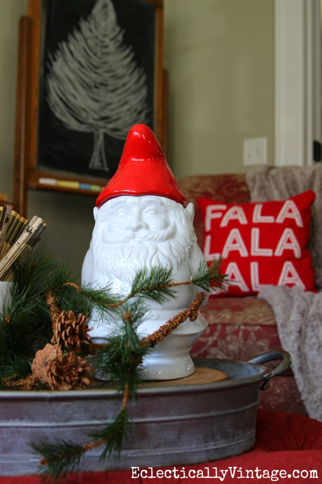 Christmas gnome cookie jar kellyelko.com