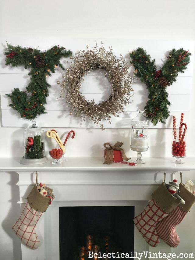 Make a Christmas JOY sign kellyelko.com
