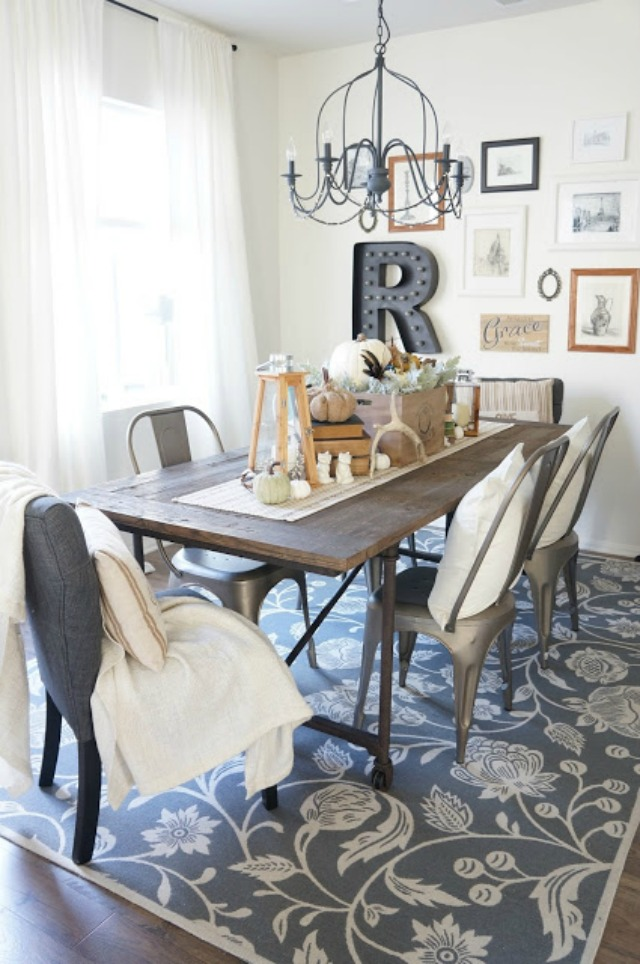 Beautiful dining room gallery wall kellyelko.com
