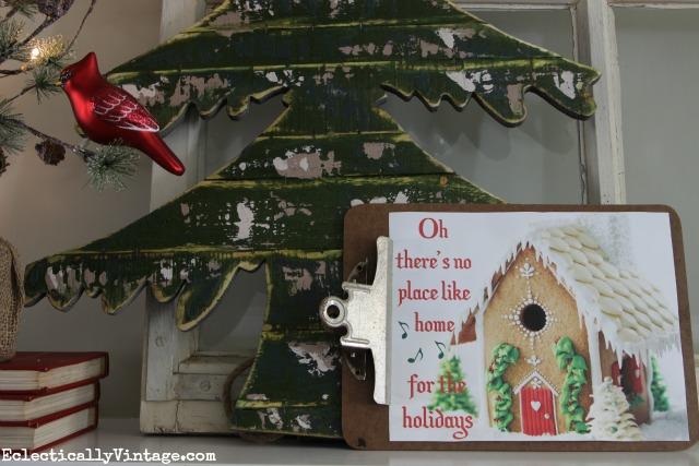 Free Christmas Gingerbread House Printable kellyelko.com