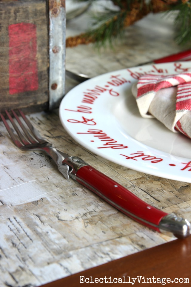 Love this red cutlery kellyelko.com