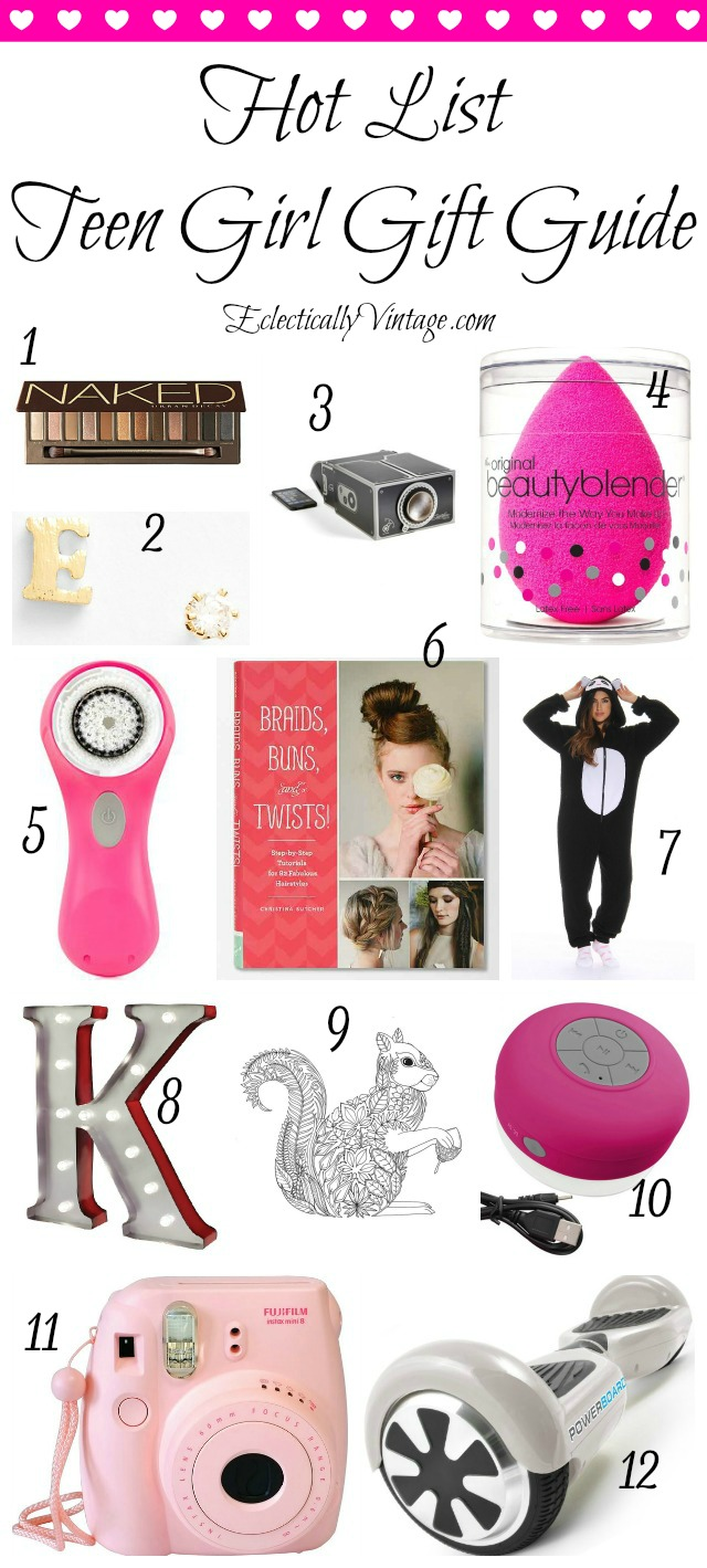 Gift Ideas Teen Girls filled with tons of creative gifts for her kellyelko.com #giftguide #giftideas #girlsgifts #giftsforher #giftsforwomen #christmasgiftguide #christmasgiftideas #giftsforher
