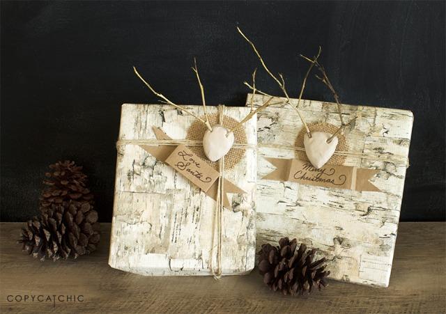 DIY clay reindeer gift tags - love the twig antlers!