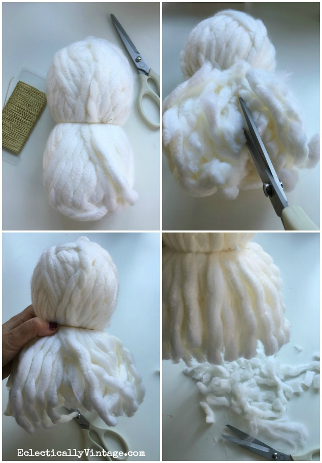 How to make HUGE pom poms! These are so fun! kellyelko.com