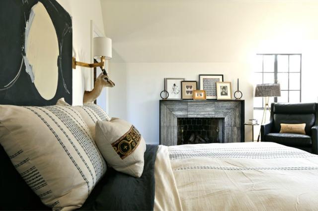 Cozy bedroom with fireplace kellyelko.com