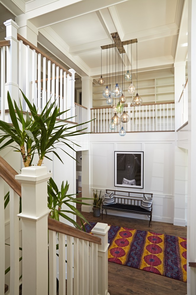 Dramatic Foyer Lighting : Eclectic home tour brooke wagner design