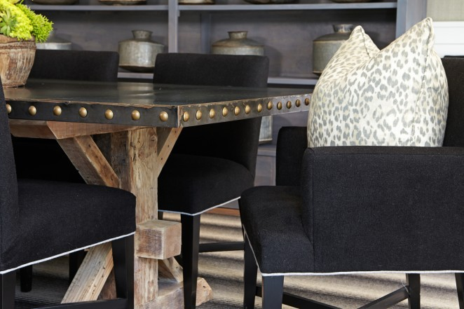Industrial dining table - love the mix of metal and wood kellyelko.com