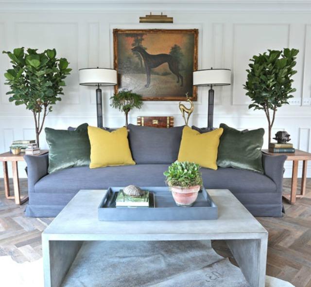 Love the symmetry of this space and the herringbone wood floors kellyelko.com