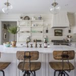 Eclectic Home Tour - love this white kitchen kellyelko.com