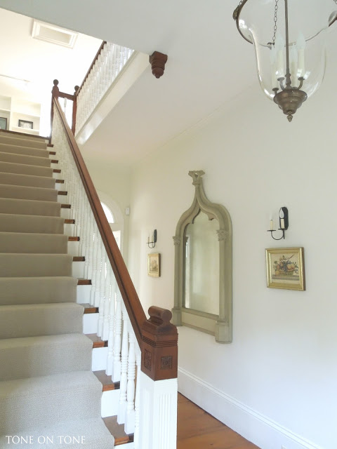 Antique staircase in this updated historic home tour kellyelko.com