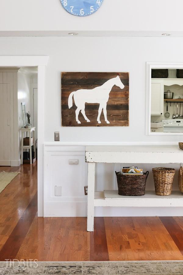 DIY horse silhouette art kellyelko.com