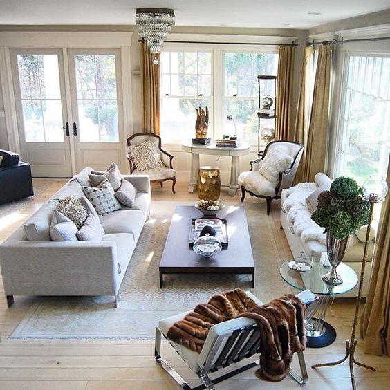 Modern neutral living room kellyelko.com