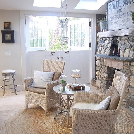 Love the double dutch doors in this stunning coastal farmhouse tour kellyelko.com