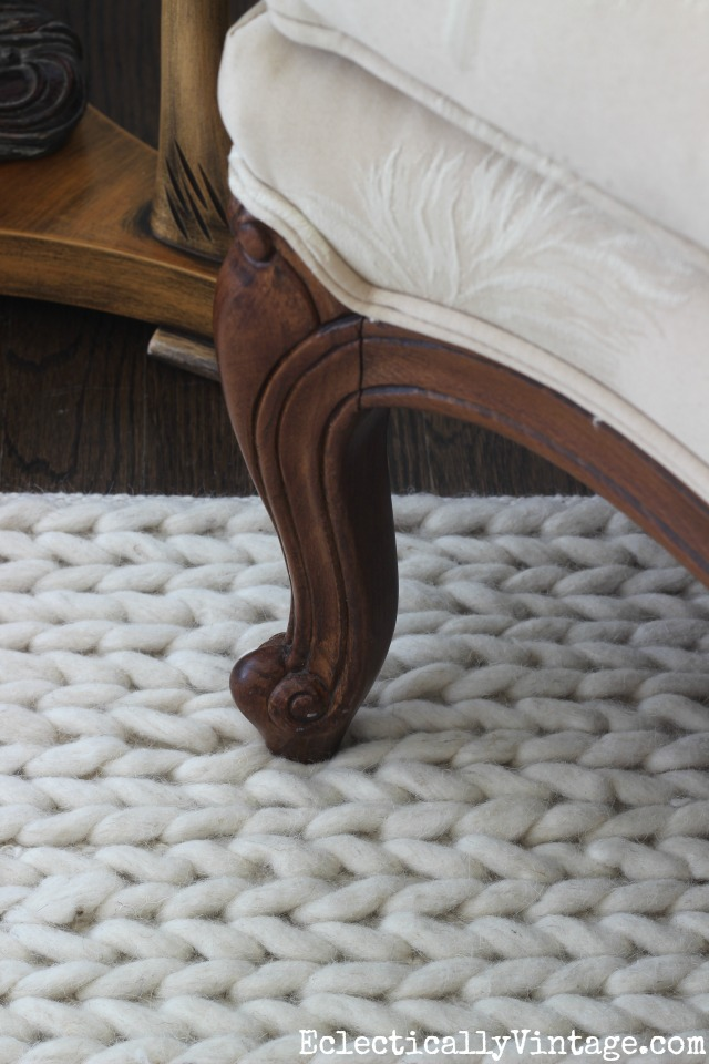 Beautiful Neutral Textured Rug