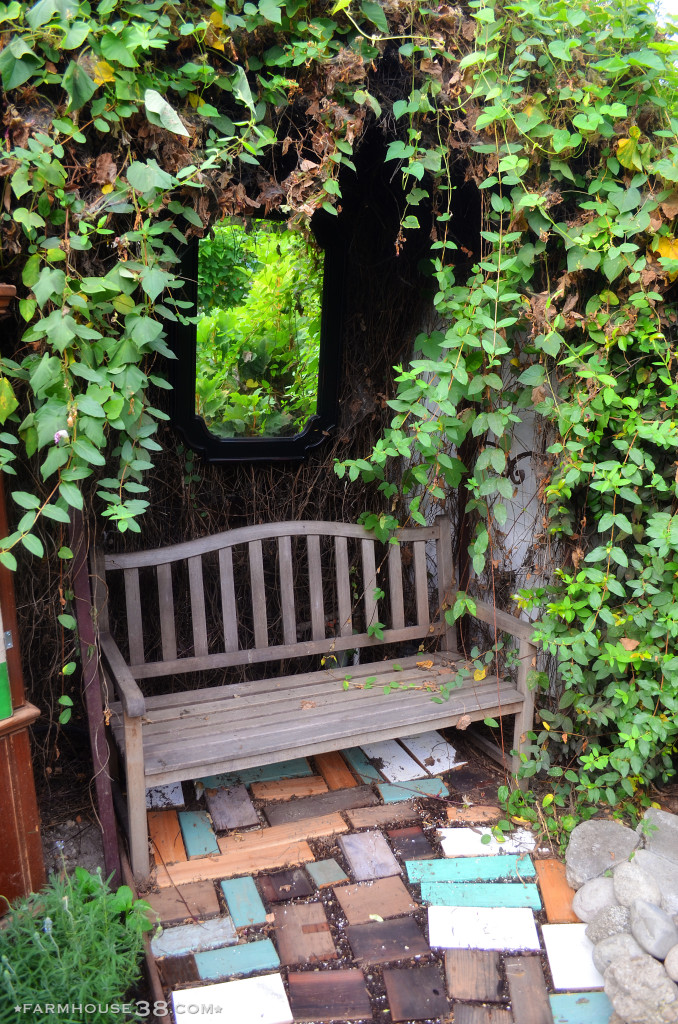 Cozy garden bench kellyelko.com