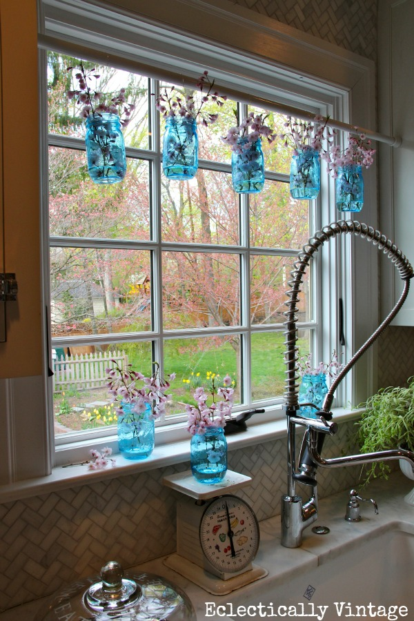 Stunning mason jar window treatments