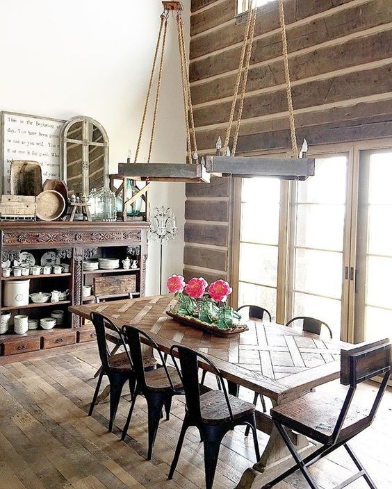 Farmhouse Chandeliers For Dining Room: Eclectic Home Tour